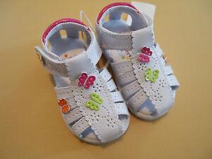 WonderKids Allison Toddler Girls White Dress Shoes/Sandals 2