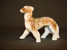 "Vintage Borzoi Russian Wolfhound Hound Dog Japan Figurine Porcelain 2 7/8"" Bo1"