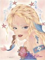 MERMAID DOLPHIN STARFISH CAMEO CELTIC FANTASY FAIRLIGHT HAND SIGNED ART PRINT