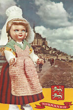 Vintage Crochet PATTERN to make Doll Clothes Skirt Apron Hat Shawl France Norman