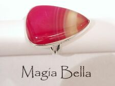 NEW STERLING SILVER, RED BOTSWANA AGATE RING SIZE 8 .925