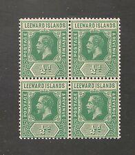 Leeward Islands #47 VF MNH BLOCK - 1912 1/2d King George V