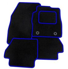 FIAT BARCHETTA 1995-2005 TAILORED CAR FLOOR MATS BLACK CARPET WITH BLUE TRIM