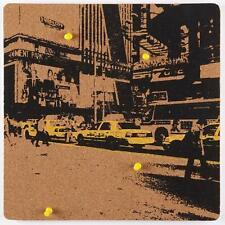 nexxt Cadoo Self-Adhesive Silk Screen Corkboard, 12 by 12 Inch, New York City