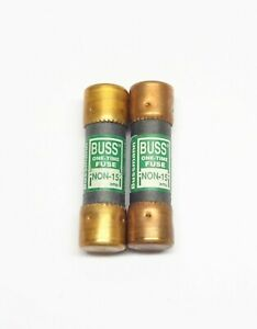 COOPER BUSSMANN NON-15 ONE-TIME FUSE (PACKAGE OF 2)( 250 VAC )
