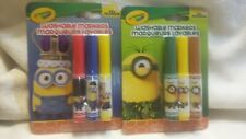 Crayola minion washable markers Three Pack Lot Of 2