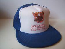 Moosehaven Loyal Order Moose Florida Hat Vintage Blue White Snapback Trucker Cap