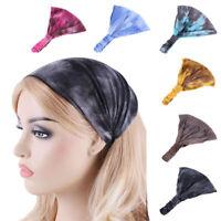Bohemian Turban Head Band Women Wrap Tie Dye Elastic Hair Band Headbands New