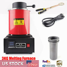 3KG Electric Metal Melting Furnace Forging Gold Silver Jewelry Module 2012° F