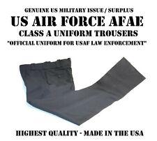 NEW MEN'S SIZE 38 USAF AFAE CLASS A PANTS POLICE SF UNIFORM BLACK BLUE TROUSERS