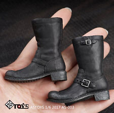 "1/6 Boots Action Figure Leather Shoes For 12"" Male Man Toy Doll ASTOYS AS003"