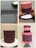 EDIBLE WAFER RICE PAPER LACES CAKE CUPCAKE BIRTHDAY WEDDING TEAPARTY ENGAGEMENT