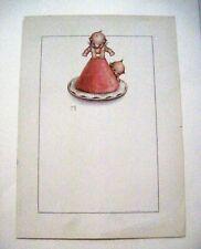 """Vintage Print of """"Kewpie"""" by """"Rose O'Neill"""" w/ Kewpie Leaping Frogging *"""