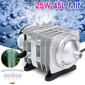 220V 25W 45L/min Electromagnetic Aquarium Air Pump Fish Tank Farms Pond  AU