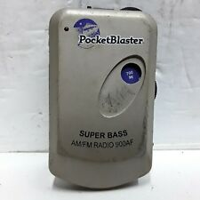 Pocket Blaster Super Bass AM FM radio 900AF