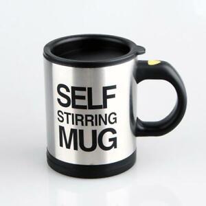 Self Stirring Mug 400ml Automatic Coffee Milk Mixing Mug Stainless Steel Thermal