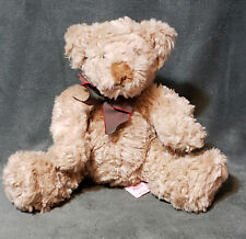 "Higgins Russ Berrie Plush Brown Teddy Bear Stuffed Animal 7"" Tall Sitting"