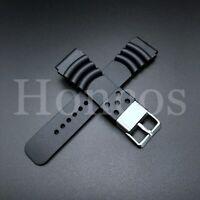 Seiko Watch Band Prospex Marine Master 300 SBDX017 8L35-00K0 Black Waffle Strap