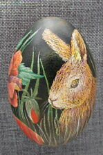 Goose Pysanka, Real Ukrainian Easter Egg, Pysanka, Rabbit With Flowers W8