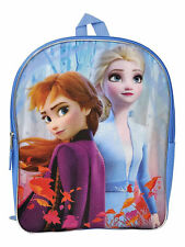 "Disney Frozen II Backpack 15"" Anna Elsa Flat Front"
