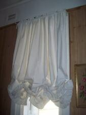 Shabby White Calico Austrian Blind Festoon Curtain 150cm Width x 140cm Drop