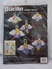 Bucilla 6159 Angel Ornaments/Magnets Plastic Canvas Kit Set of 6 - Z