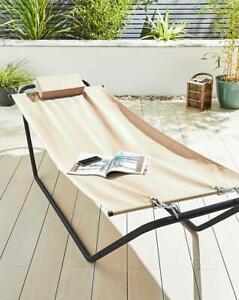 Outdoor Garden Patio Steel Frame Comfort Hammock Air Swing Swinging Sun Lounger