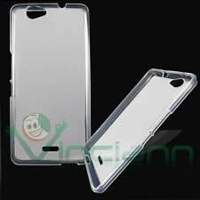 Custodia TPU Flexy bianca Semi trasparente pr Wiko Getaway Cover Case flessibile