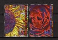 13385) UNO - ONU US$ 2001 MNH** Nuovi** Definitives, flowers 2v