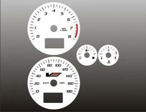 2004-2007 Cadillac CTS-V Dash Cluster White Face Gauges 04-07