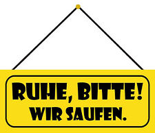 """Schild Spruch /""""Ruhe im Karton/"""" 27 x 10 cm Blechschild"""