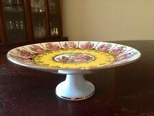 Vintage JKW Bavaria Germany Fragonard Love Story Footed Cake Plate
