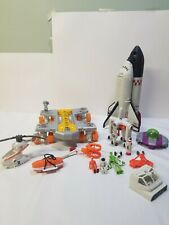 Mattel Matchbox Mega Rig Shuttle Space Rover Aliens Rescue Helicopter INCOMPLETE