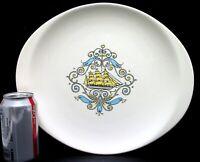 "Vtg Canonsburg Pottery Voyager Oval Platter 13 7/8"" Ship Nautical Cape Cod Decor"
