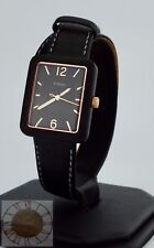 Women's Fossil Watch, Atwater Black Leather Wrap Watch ES4193, New