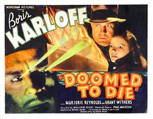 Mr Wong - Doomed to Die (1940) Boris Karloff  Film DVD