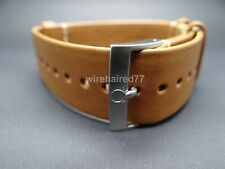 Omega 21mm Brown Novonappa Leather Strap With Brushed Stainless Steel Buckle