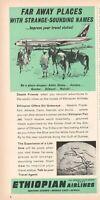 1964 Original Advertising' American Ethiopian Airlines Company Aerial Far Away