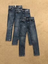 Boys Bundle Of 3 Next Super Skinny Blue Jeans Size 11 Years