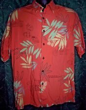 Harley Davidson Tori Richard Hawaiian Camp Shirt Motorcycle Floral Size Medium