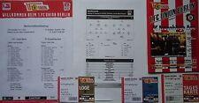 6 items VIP Tickets Programm Aufstellung 2013/14 Union Berlin - Erzgebirge Aue