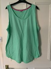 Joules Size 18 Vest Top Green