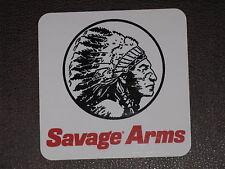 "SAVAGE ARMS Chief Head 4"" Vinyl Decal Sticker Rifle Gun Firearm Rifle Hunt Deer"