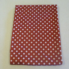 """Rust with White Polka Dot Silky Knit Sewing Fabric 40""""x58"""" (1 yd.)"""
