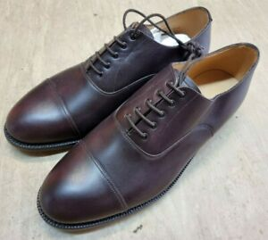 NEW Genuine British Army Black Leather Officers Parade Service Shoes 11L UK