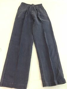 NWOT HABAND CASUAL JOE MENS GRAY BLUE PANTS SIZE SMALL / LONG
