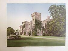 C. 1880 STAMPA; Downton Hall, STANTON Lacy, nei pressi di Ludlow, Shropshire