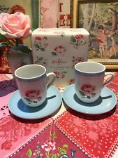 🌺CATH KIDSTON ASHDOWN ROSE SET OF 2 ESPRESSO CUPS UNUSED 🌺