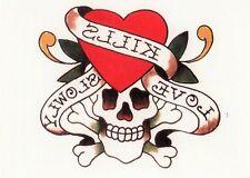 Temporary Tattoo, Ed Hardy, Kills-Love-Slowly