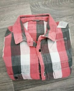 Men's All Saints Checked Shirt Red Small